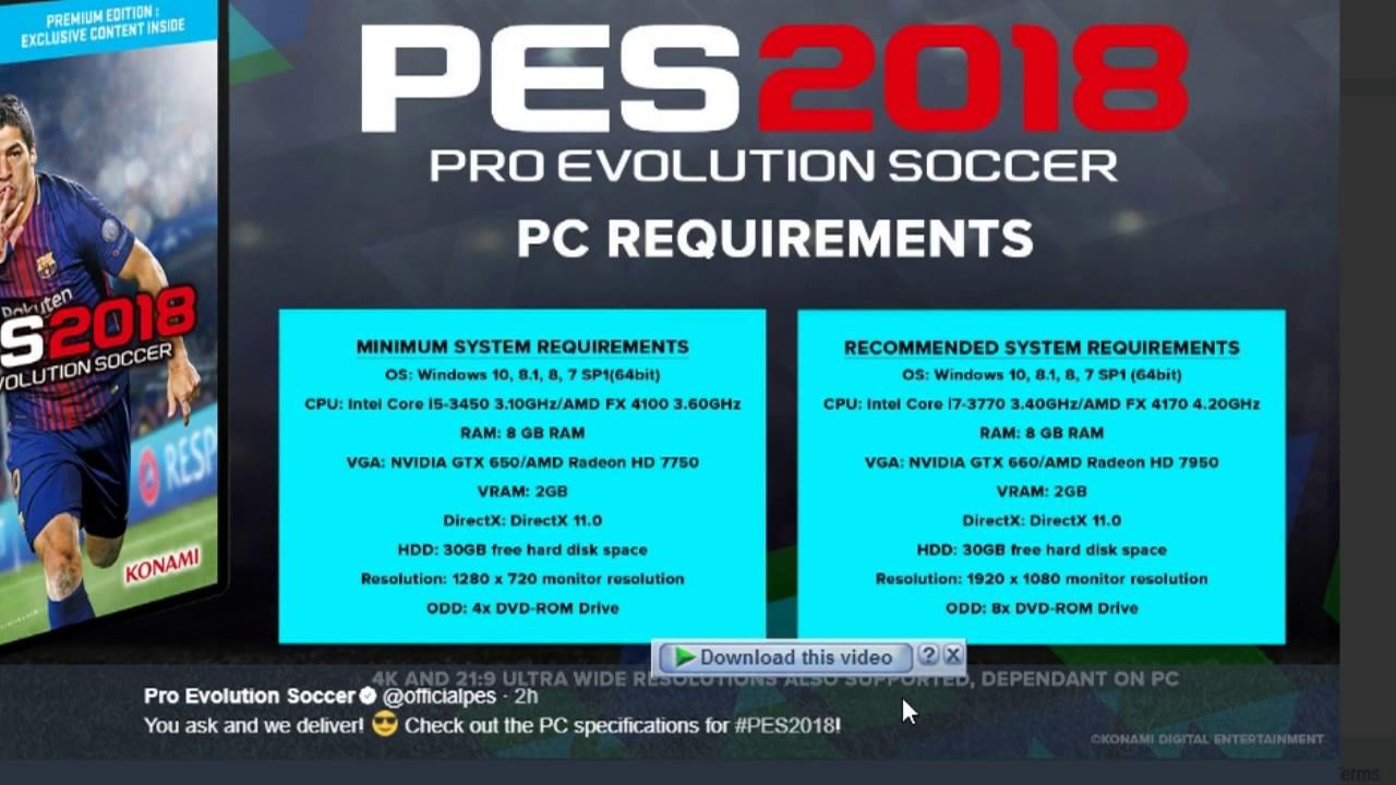 license key pro evolution soccer 2018