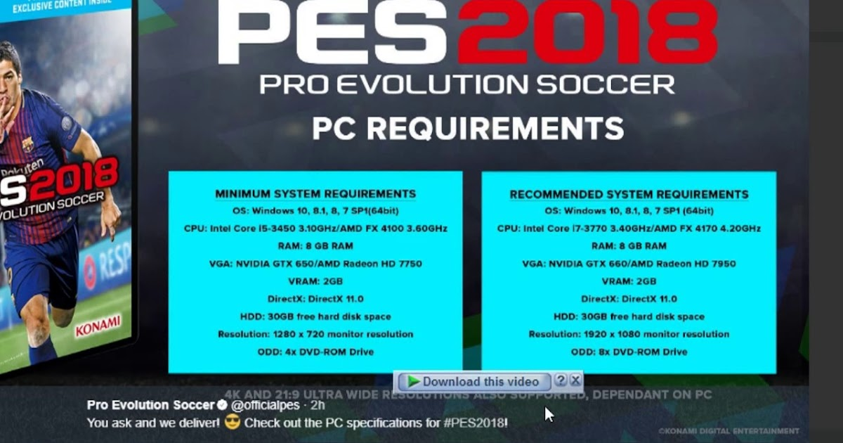 download pro evolution soccer 2018 license key.txt