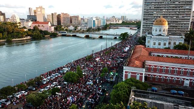 Manifestação em Recife-PE,17 de junho de 2013.