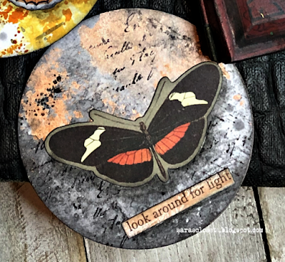 Sara Emily Barker https://sarascloset1.blogspot.com/2020/06/my-butterfly-collection.html Mixed Media AT Coins 2