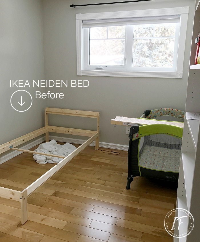 Ikea Neiden Pine Twin Bed BEFORE