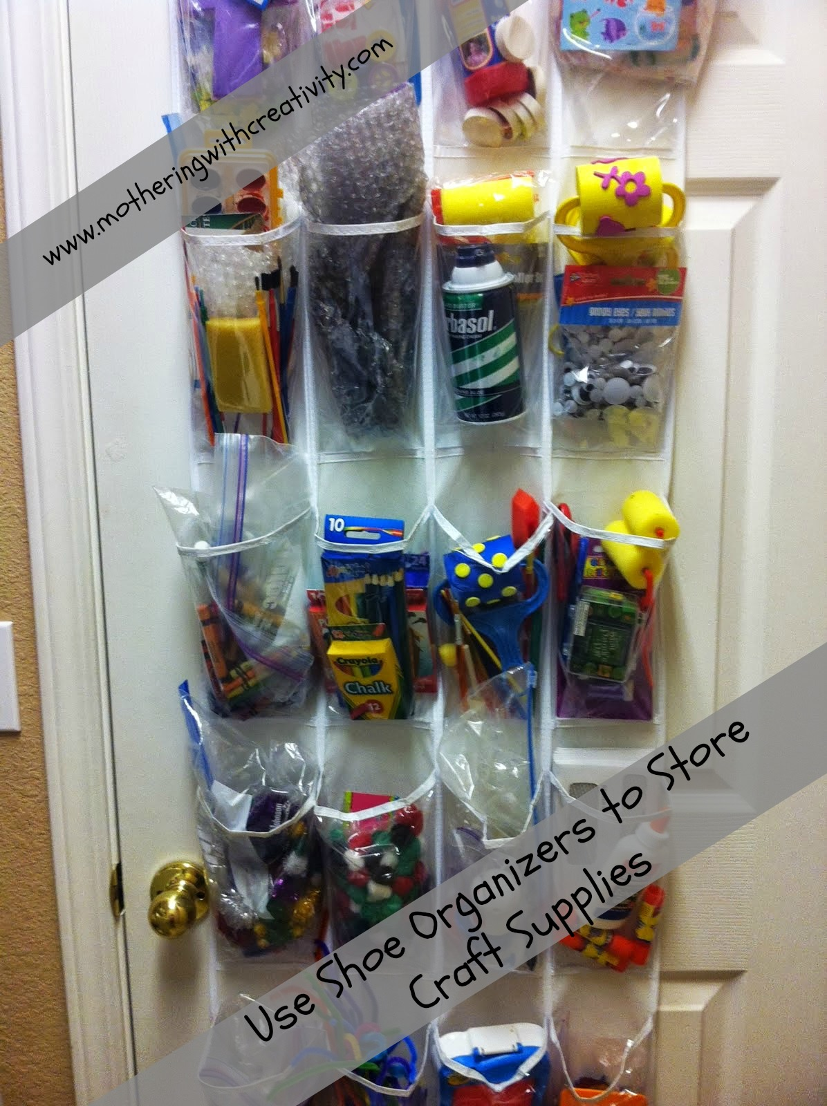 Mothering with Creativity: Ways to Use Shoe Organizers