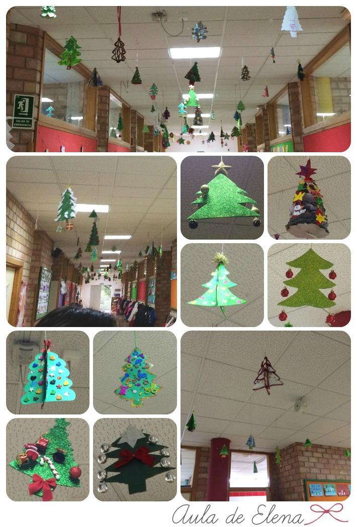 Arboles Para Decorar Aulas.Decoracion De Navidad Aula De Elena