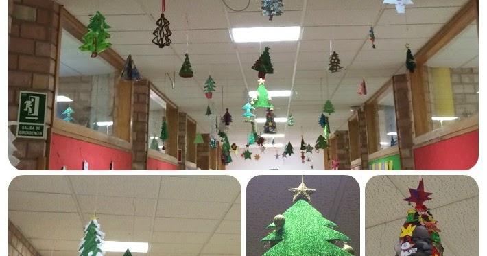 Dibujos De Navidad Para Decorar La Clase.Decoracion De Navidad Aula De Elena