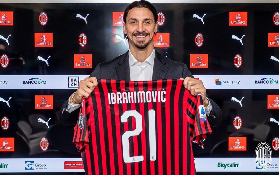"""I'm Back"" - Zlatan Ibrahimovic Officially Signs For AC Milan (Photos)"