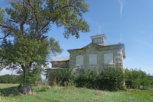 Abandoned Israel Beetison Mansion in Ashland Nebraska