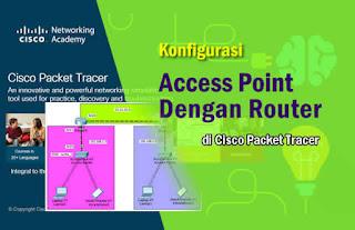 Konfigurasi Access Point dengan Router di Packet Tracer