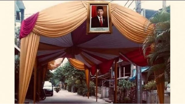 Viral Ide Pasang Foto Jokowi di Hajatan Biar Tak Dibubarin Satgas Covid