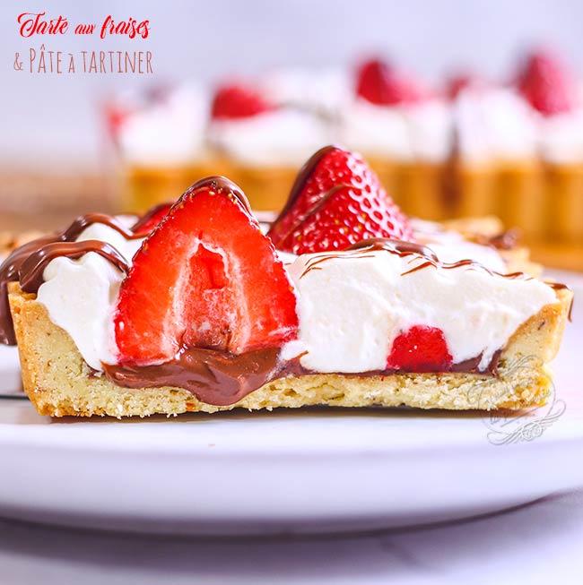 tarte fraise chantilly