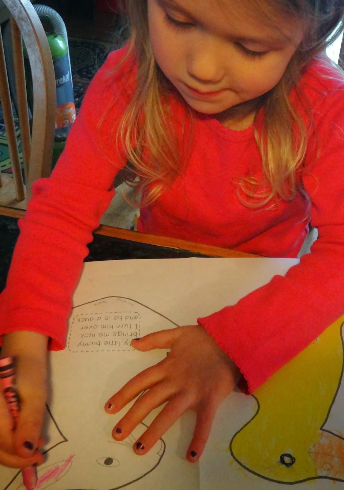 Little Stars Learning Duck Bunny Easter Preschool Puppet Craft