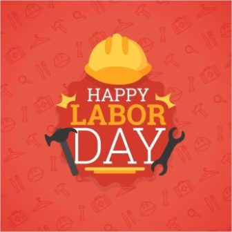 Happy Labor Day Red Background free download vector