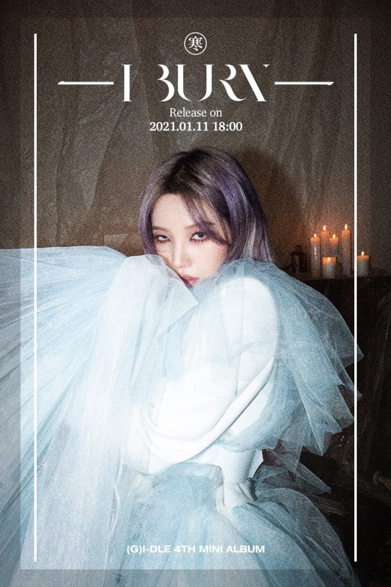 (G)I-DLE Looks Captivating With White Dress in New Teaser for 'I BURN'