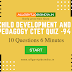 CHILD DEVELOPMENT AND PEDAGOGY TOP 10 QUESTIONS