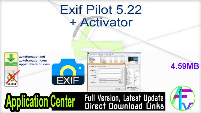 Exif Pilot 5.22 + Activator
