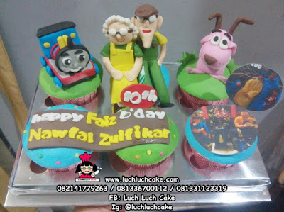 Cupcake Thomas dan Courage the Cowardly Dog