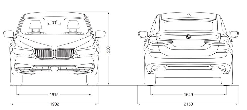 BMW Serie 6 GT - Dimensioni, misure e peso - Bagagliaio