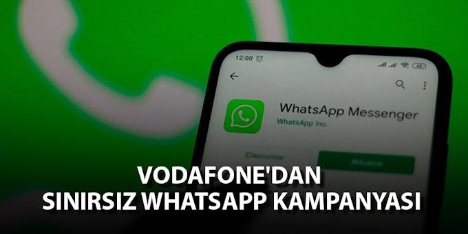 Vodafone Sınırsız Bedava WhatsApp Paketi Fırsatı