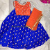 Blue Orange Stylish Crop Top