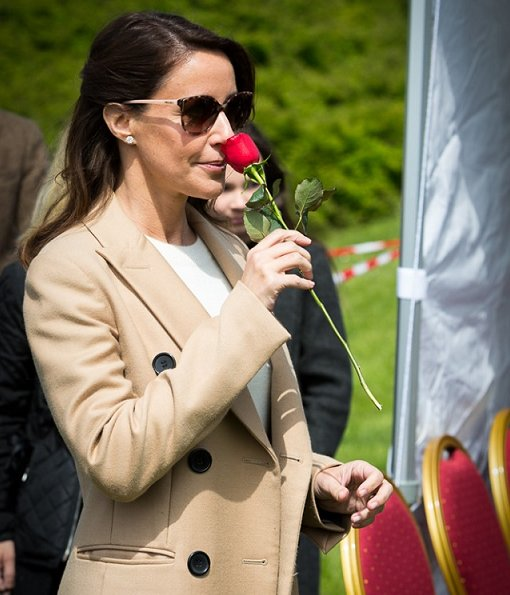 Princess Marie wore Burberry cashmere sweater and By Malene Birger Torun winter coat