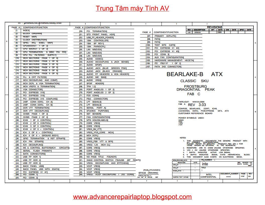 Schematic Intel Dg33fbc