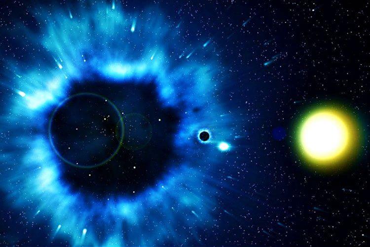 Başlarda güneşten 1 milyon kat daha kütleli bu nesnenin bir karadelik olduğu söylendi.