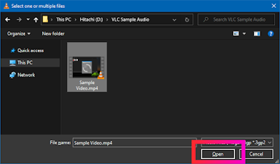 Croben.com Extract Audio Using VLC Step 5