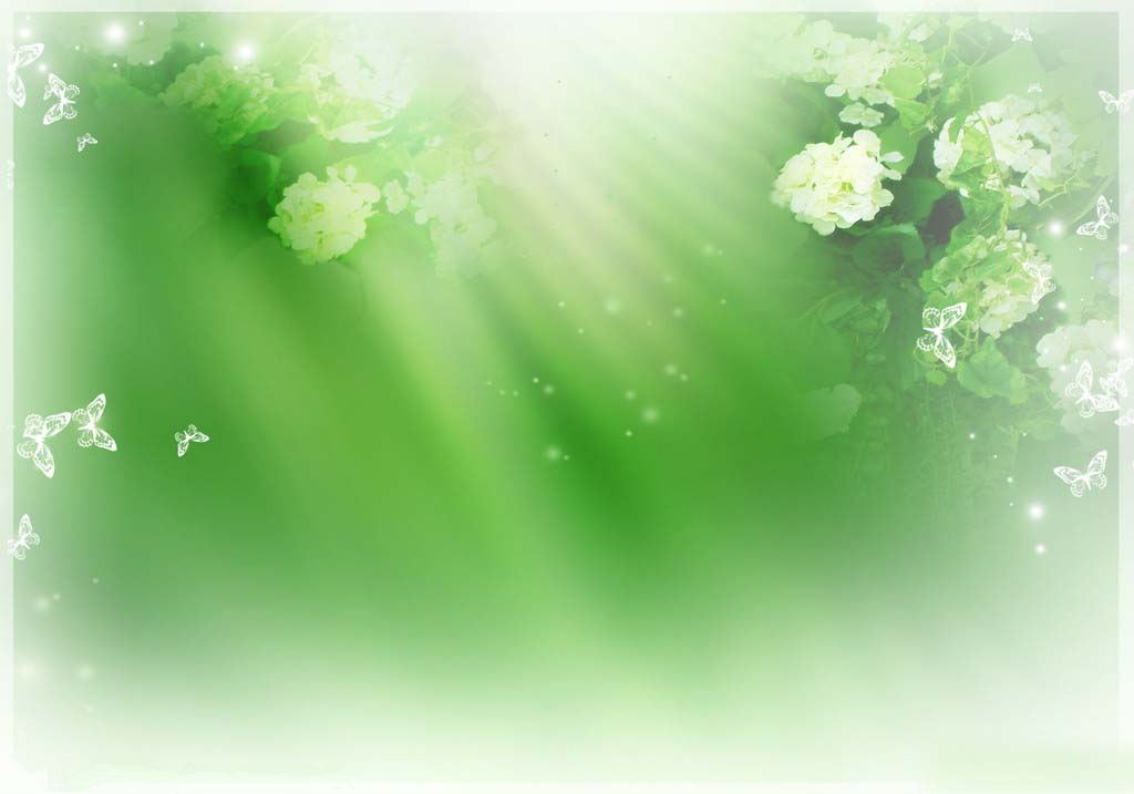 Green and elegant PowerPoint background