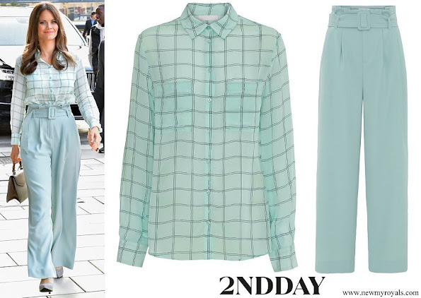 Princess Sofia wore a new check shirt and wide trousers from 2NDDAY
