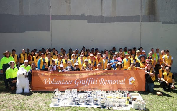 Cleanup on National Graffiti Removal Day 2017, Sydney