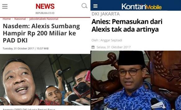 Telak! Nasdem: Alexis Sumbang Rp 200 Miliar ke PAD, Anies: Pemasukan dari Alexis tak ada artinya