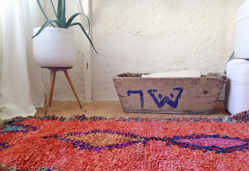 tapis boucherouite maroc vintage ©lovmint
