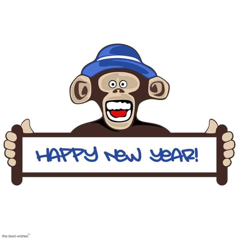 happy new year monkey