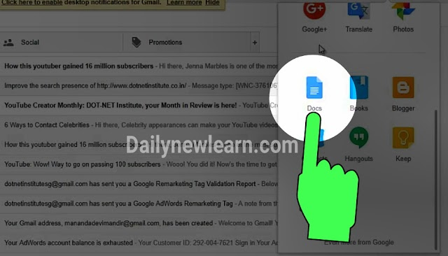 How to create a Google doc and use it full details