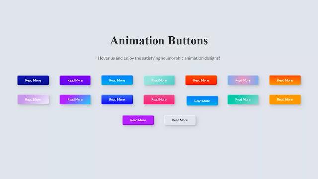 Satisfying Neumorphic Buttons Design