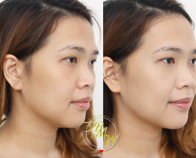 before and after photo using Kate Tokyo Mineral Mask BB Cream Review