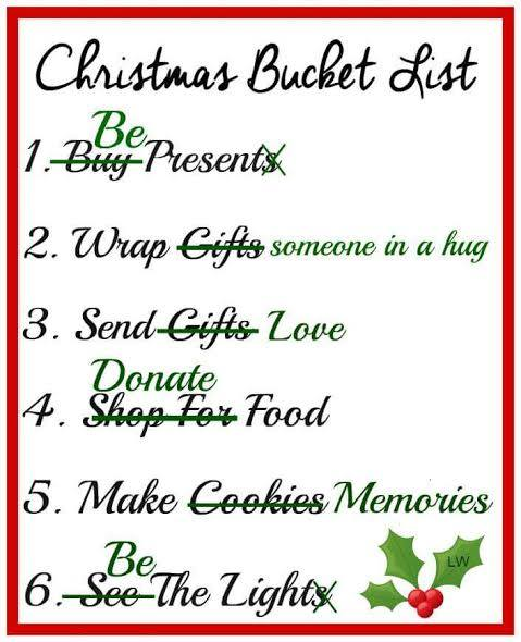Image result for christmas bucket list