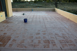 A whole lot of grouting gone on
