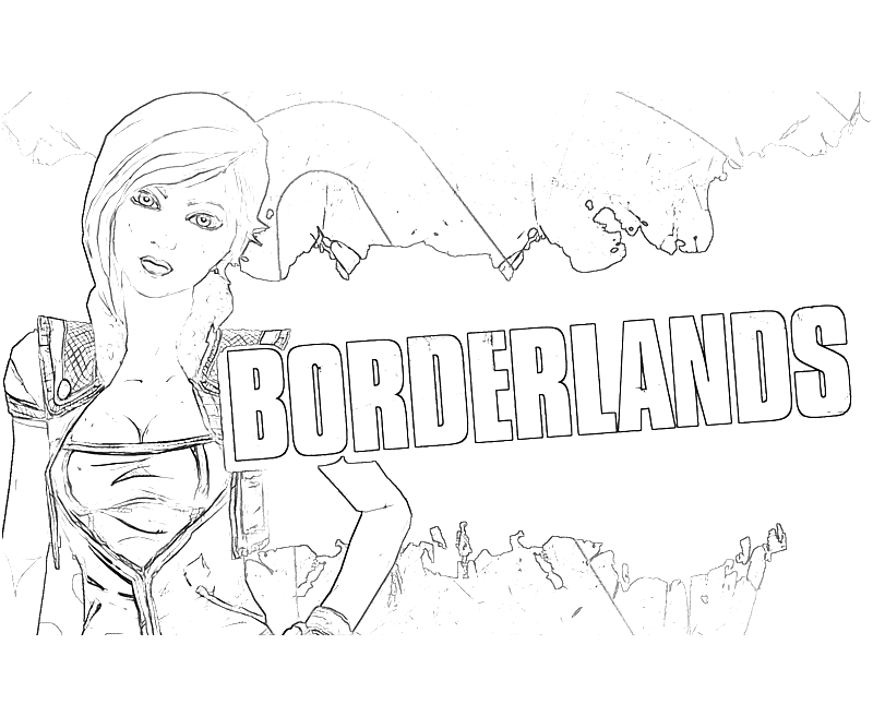 Borderlands coloring pages ~ Borderlands 2 Lilith Action   Surfing