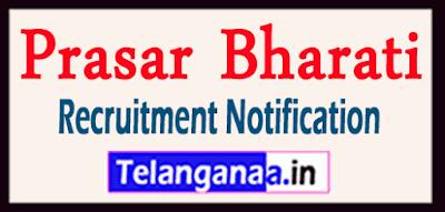 Prasar Bharati Recruitment Notification