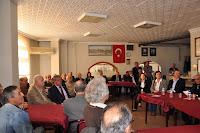 Öğretmenler lokalinde yapılan bir toplantı
