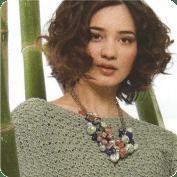 Blusa con mangas murciélago a Crochet