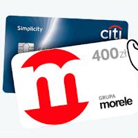 Voucher Morele.net 400 zł od Citibanku za kartę Citi Simplicity