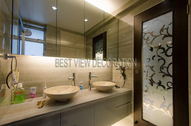 九龍站漾日居The Waterfront 主人廁 master bathroom 室內設計