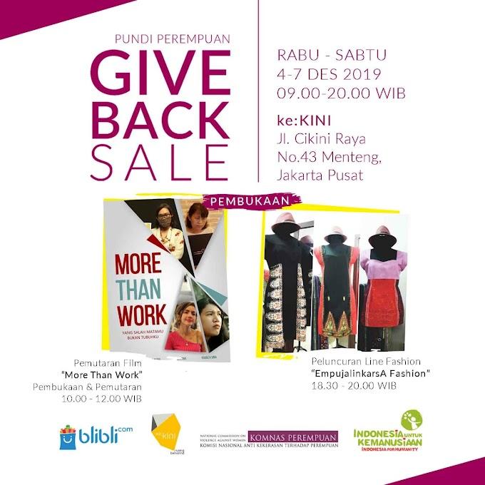 Pundi Perempuan: Datang ke Give Back Sale dan Bantu Perempuan Indonesia