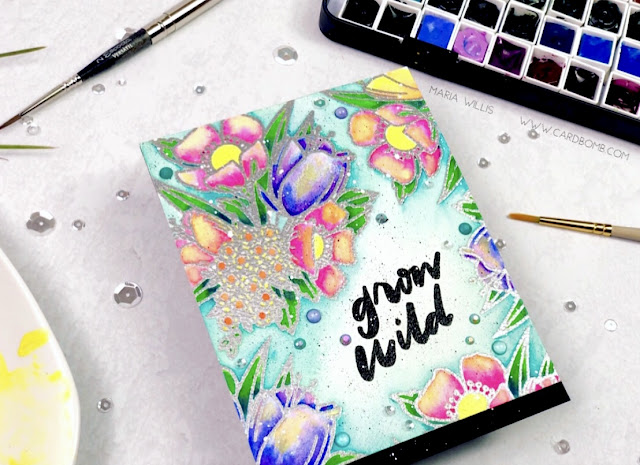 #cardbomb, #mariawillis, maria willis, #ellenhutson, #mondowildflowers, #mondosakura, #cards, #cardmaking, #cardmaker, #stamps, #ink, #paper, #papercraft, #handmade, #handmadecards, #watercolor, #danielsmithwatercolors, #discount, #art, #color, #copicmarkers, #copics,