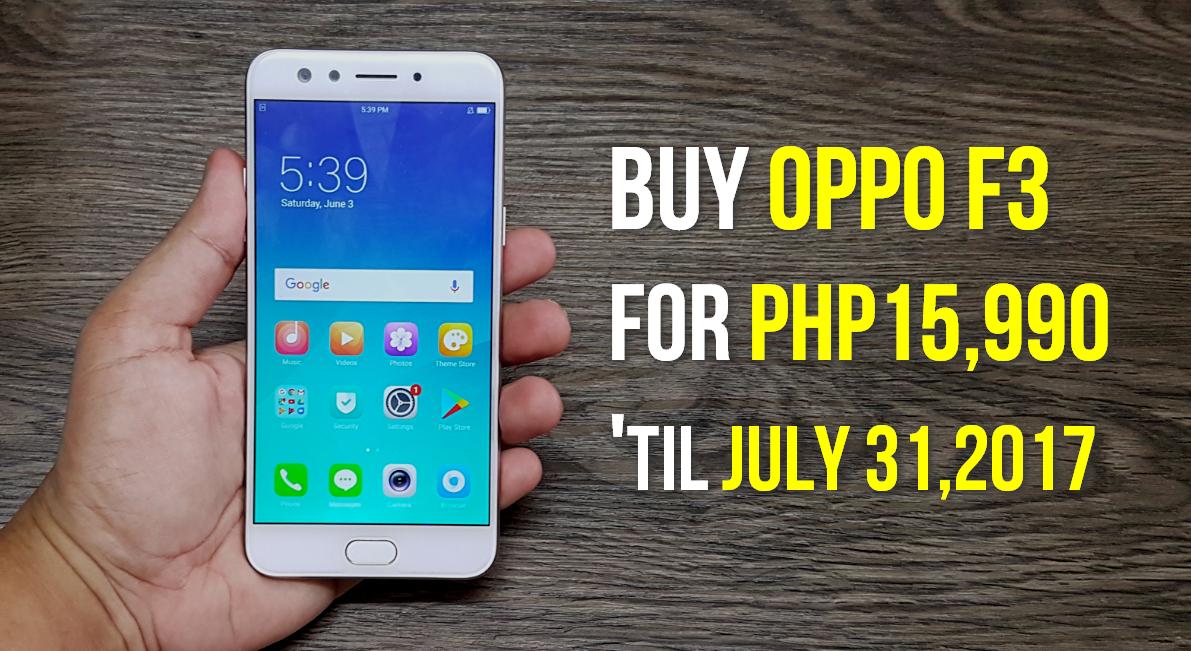 OPPO Philippines OPPO F3 Promo