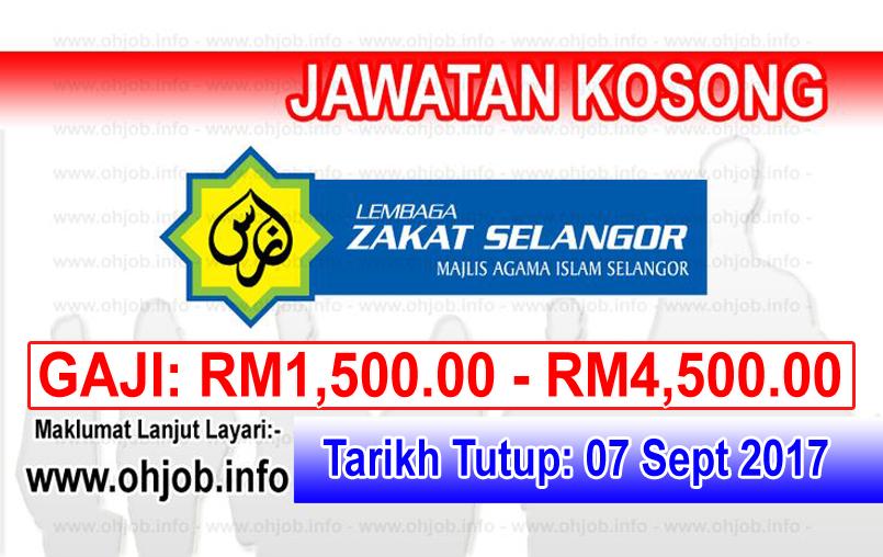 Jawatan Kerja Kosong Zakat Selangor - MAIS logo www.ohjob.info september 2017