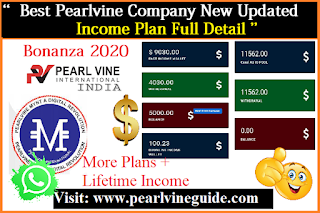 Pearlvine International New Income Plan Details 2020