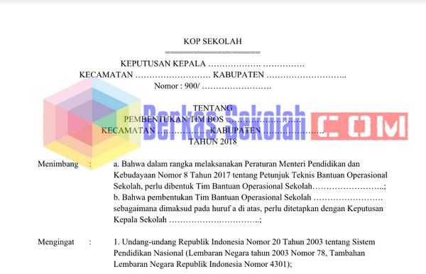 SK TIM Manajeman BOS 2018 DOCX