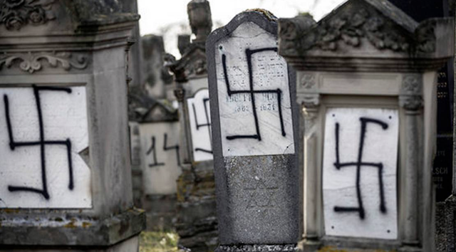 French Jewish cemetery desecrated with swastikas